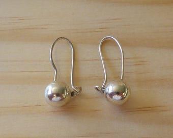 Vintage Sterling Silver Ball Earrings Pierced Ears