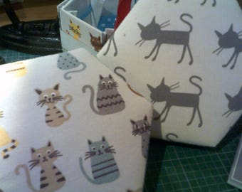 Fun Cats Hexagonal Etui Sewing Box