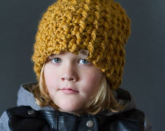 CROCHET PATTERN - Woodland Slouch Hat - Crochet Slouchy Hat Pattern - Crochet Super Bulky Yarn Hat - (Baby to Adult)  - Instant PDF Download