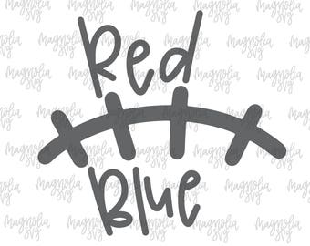 Red and Blue Laces svg, Football Laces svg, Football svg, Football Team Colors svg, School Colors svg, Color svg, Red and Blue Football