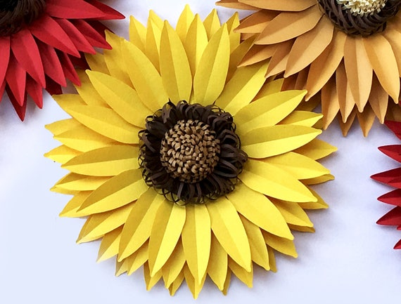 diy paper sunflower svg and pdf digital 13 inches large