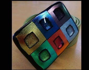 Fused Glass belt and Buckle