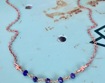 Lapis Lazuli Choker Necklace / Layering Necklace / Nina Carina / Simple Necklace / Everyday Jewelry / Blue / 9th Anniversary / Birthstone