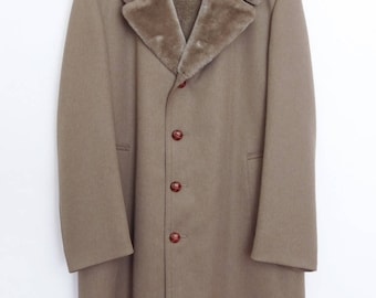 Size 40L - London Fog vintage heavy gabardine wool car coat, excellent condition