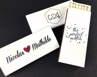 Set of 50 The Perfect Match Matchboxes With Initials * Personalized Matches * Wedding Matches * Custom Matches * Personalized Matchbox  BEST