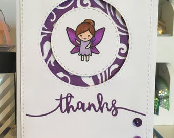 Thank you Card with Fairy