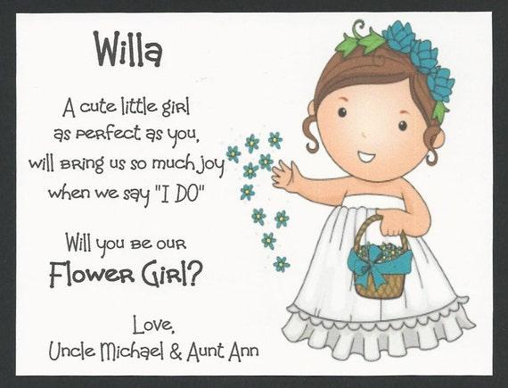 Brunette willa will you be my flower girl flat card mightylinksfo