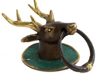 knockers, deer, brass, knockers brass, brass knockers