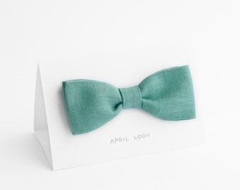 Mint green bow tie - MADE TO ORDER