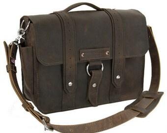 """17"""" Brown Tahoe Voyager Laptop Bag -"""