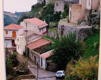 Photo: Sicilian Street Scene with Church