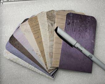 10 Miniature Envelopes for ATC / ACEO / Kakaokarten Gift Cards Handmade