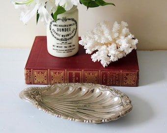 Shell Shaped Dish - Vintage Silver Plated Shell Shaped Dish or Bowl on small feet
