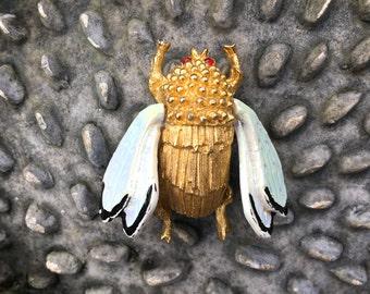 Vintage Bee Brooch BSK Honey Bee Pin
