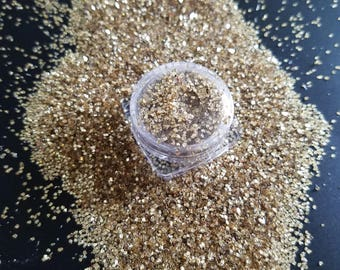 Gold chunky glitter / large glitter / project glitter / art glitter / loose glitter / craft glitter / christmas glitter / glitter powder diy