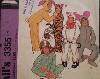 Vintage 70's Kids Costume/Pajamas Pattern-Size 8 (27-23 1/2-28)