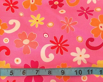 Deco Fabric -Hot Pink Flowers 12 inches