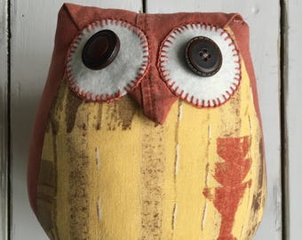 Handmade owl. Home decoration. Decorative cushion. Owl decoration. Owl pillow,