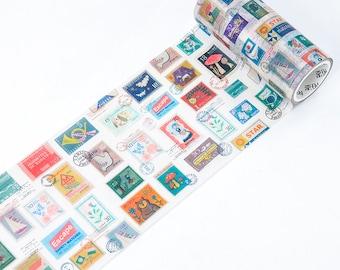Postage Stamp Collection v2 Washi Tape, Wide Washi Tape - WT479