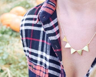 Triangle Bunting Necklace