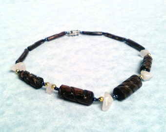Anklet ankle jewelry jewelry wood and stone anklet stone anklet wood anklet  hematite anklet