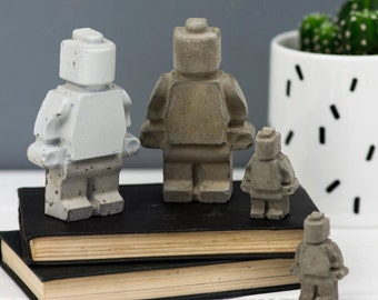 Concrete Decor – Gift For Him – Wife Gift– Gift for Dad - Lego Gift  – Housewarming Gift - Mom Gift - Desk accessories - Mothers day Gift