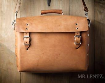 Large Leather Work Bag, Large Briefcase, Leather Duffel Bag, Men's Leather shoulder bag, Leather gear bag 243