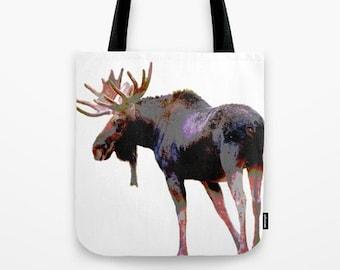 Moose Tote Bag - photo tote bag