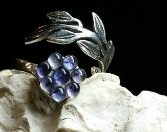 Marvelous Amethyst & Sterling Silver wrap Ring