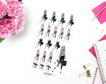 Shopping Is My Cardio | Addie Collection | Planner Stickers