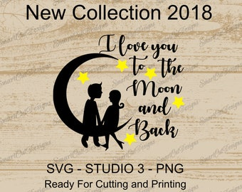 Love Svg, Valentines Svg, I Love You Svg, To The Moon And Back Svg, Valentines Iron On, Love Iron On, Wedding Svg, Wedding Gift