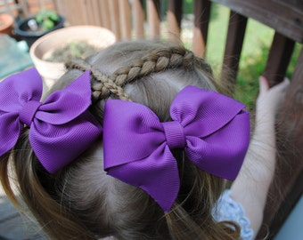 Bows for Girls - Toddler Pigtail Hairbow Pack - Pick TWELVE PAIRS - Half Pinwheel Bows - Shop Best Seller - Total of 24 Bows - M2M Hairbows