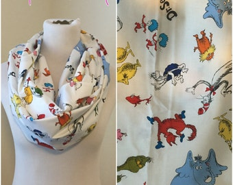 Dr. Seuss scarf- available in regular and infinity