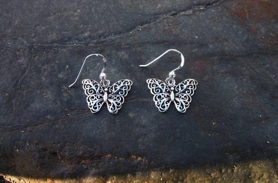 Sterling Silver Butterfly Earrings - #310