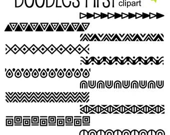 Tribal Borders Clip Art for Scrapbooking Card Making Cupcake Toppers Paper Crafts