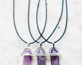 Crystal Choker Amethyst Hippy Birthstone Necklace