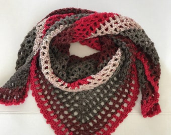 Shawl /crochet trianglle  shawl/ handmade soft scarf