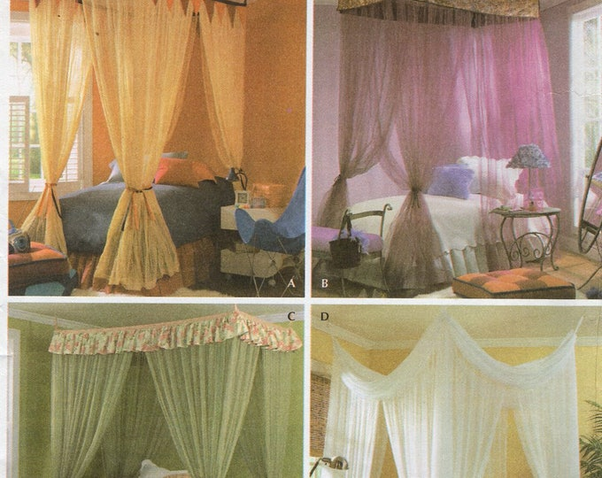 Simplicity 4532 Free Us Ship Craft Sewing Pattern Canopy Canopies Twin full Size Bed Princess Netting Uncut Andra Schewe Designer