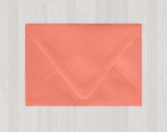 10 A6 Envelopes - Euro Flap - Coral & Peach - DIY Invitations - Envelopes for Weddings and Other Events