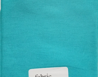"""Fabric Quarters Cotton Fabric 18""""- Turquoise Solid"""