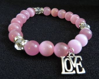 Pink Tiger Stretch Bracelet