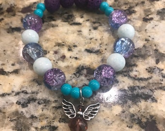 Angel essential oil bracelet diffuser