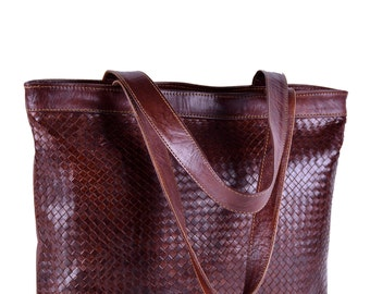 Moroccan Leather tote Bag, leather handbag for women