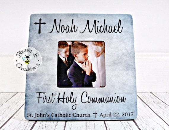 On Sale First Communion Picture Frame First Holy Communion Gift