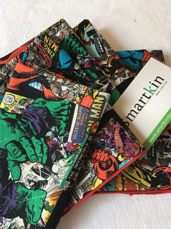 Avengers Comic Book All Cotton Lunch Box Napkin 12x15 in size Style One by Smartkin