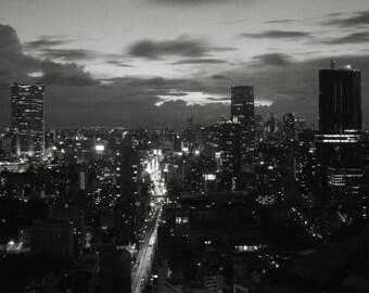 Tokyo, Skyline, Print, Tokyo Print, digital download, black and white