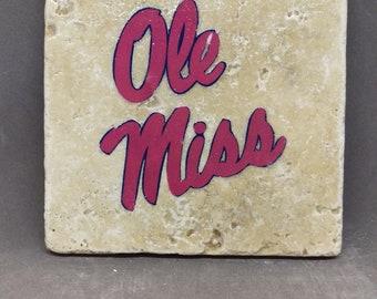 University of Mississippi Coaster (4-Pack)
