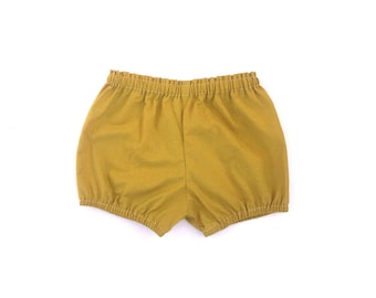 gold cotton bloomers / shorts / diaper cover