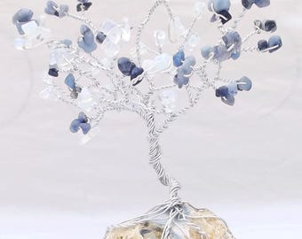 Gemstone Tree, Opalite, Blue Aventurine