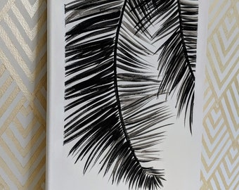 Black and White Palms Palm Tree Painting